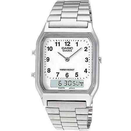 3f1411d06 Relógio Casio Feminino Digital Prata AQ230A7BMQU - Estrela Joias ...