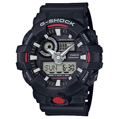 Relógio Casio G-Shock Masculino AnaDigi Preto GA7001ADR