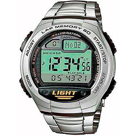 Relógio Casio Masculino Digital Prata W734D1AVDFU