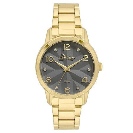 b494bc4f705 Relógio Condor Feminino Analógico Dourado CO2039AW 4C - Estrela ...