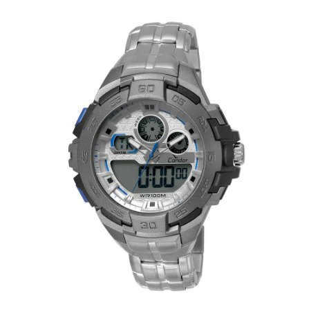 Relógio Condor Masculino AnaDigi Prata CO1154BR/3K