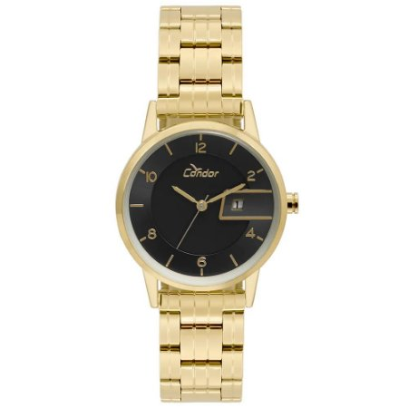 65cf11a2105 Relógio Condor Feminino Analógico Dourado - Estrela Joias