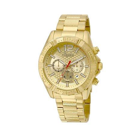 96f8dbe5313 Relógio Condor Masculino Cronógrafo Dourado COVD33AR 4D - Estrela ...
