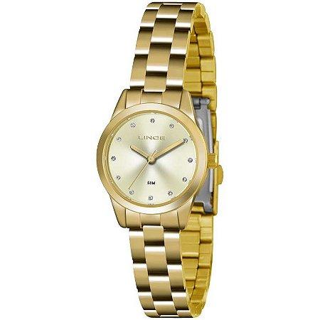 Relógio Lince Feminino Analógico Dourado LRG4435LC1KX