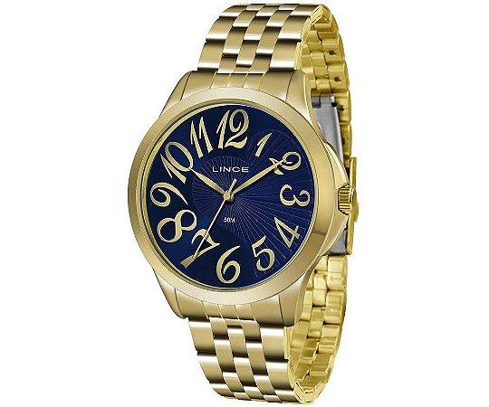 Relógio Lince Feminino Analógico Dourado LRG609LD2KX