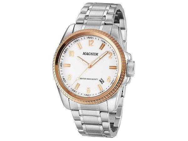 Relógio Magnum Masculino Analógico Prata MA34085Q