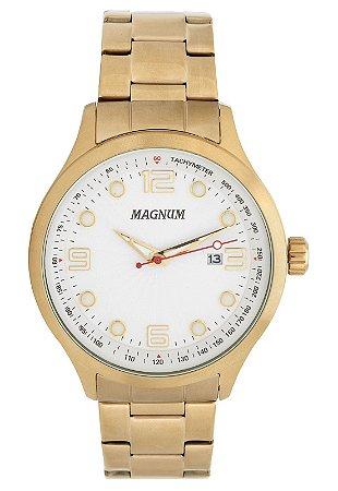 Relógio Magnum Masculino Analógico Dourado MA33013H