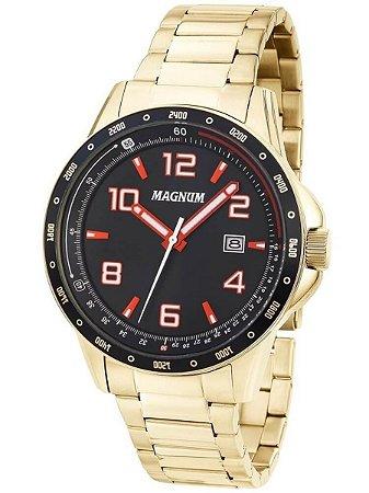 87059b83866 Relógio Magnum Masculino Analógico Dourado MA34825V - Estrela Joias ...