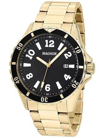 c289a206eff Relógio Magnum Masculino Analógico Dourado MA35002U - Estrela Joias ...