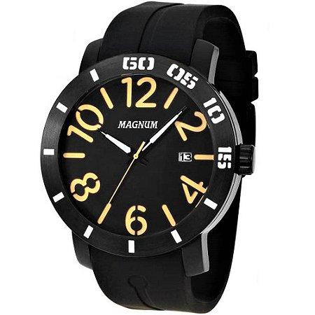 Relógio Magnum Masculino Analógico Emborrachado Preto MA34852P