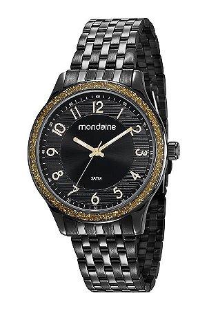 Relógio Mondaine Feminino Analógico Preto 53649LPMVPE2