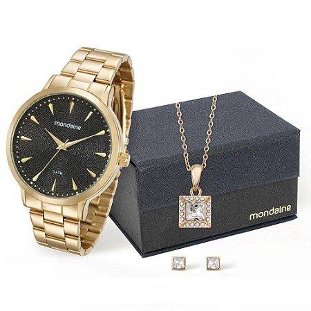 Relógio Mondaine Feminino Analógico Dourado 76563LPMVDE2K1