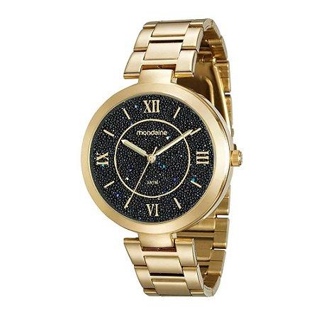 Relógio Mondaine Feminino Analógico Dourado 76615LPMVDE2