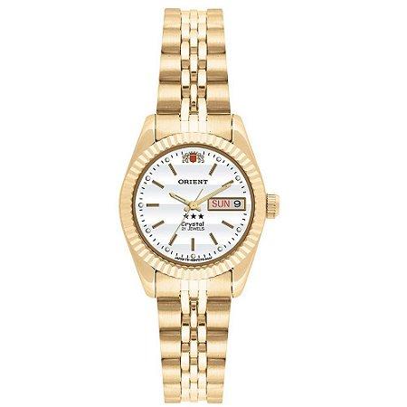 1b8fa73f03b Relógio Orient Feminino Automático Dourado 559EB1XB1KX - Estrela ...