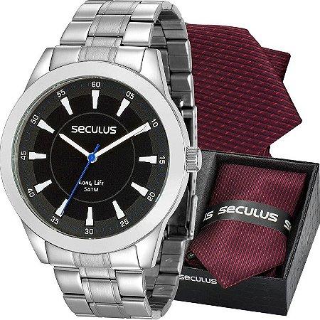 Relógio Seculus Masculino Analógico Prata 28924G0SVNA1K1