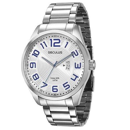 Relógio Seculus Masculino Analógico Prata 28534G0SGNA1