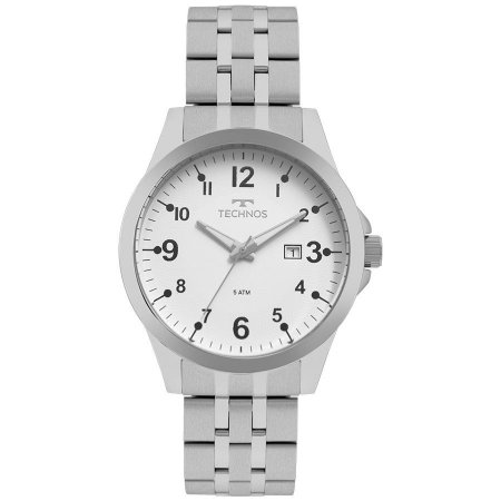 Relógio Technos Masculino Analógico Prata 2115MQC/1B