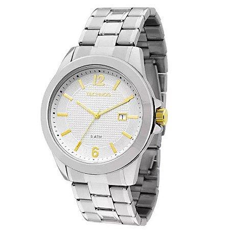 Relógio Technos Masculino Analógico Prata 2115KNQ/1K