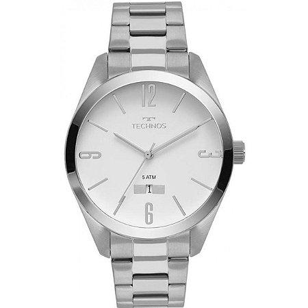 Relógio Technos Masculino Analógico Prata 2115MNU/1B