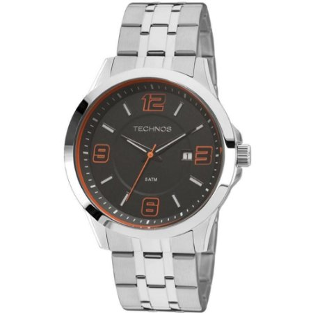 Relógio Technos Masculino Analógico Prata 2115KQG/1L