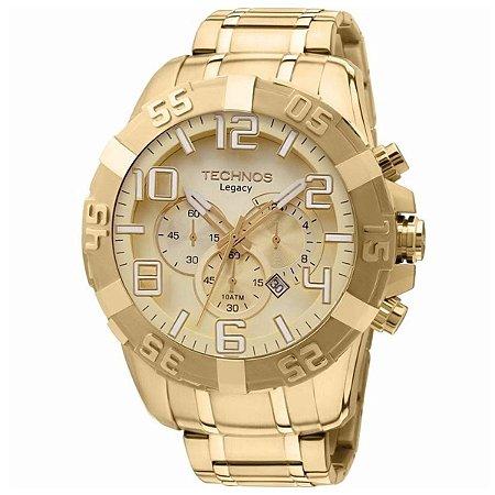 Relógio Technos Masculino Cronógrafo Dourado OS20IK/4X