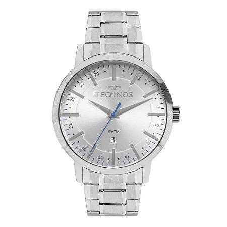 Relógio Technos Masculino Analógico Prata 2115MMJ/0B