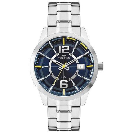 Relógio Technos Masculino Analógico Prata 2315KZU/1A
