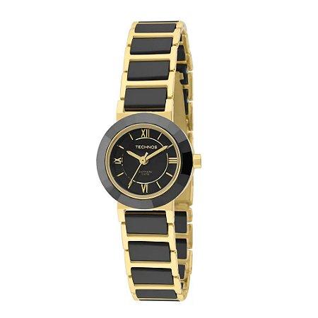 c1e6f3e741713 Relógio Technos Feminino Analógico Cerâmica Preto 2035LWF 4P ...