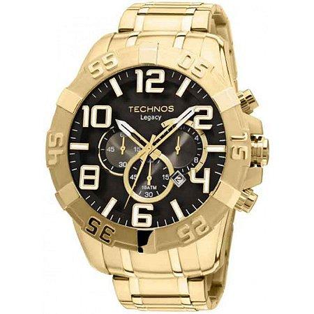 Relógio Technos Masculino Analógico Dourado OS20IM/4P