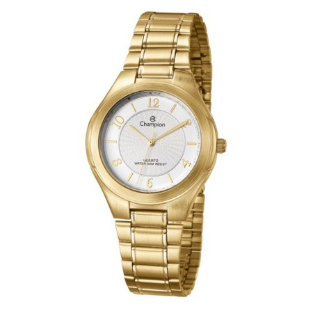 Relógio Champion Analógico Feminino Dourado  CN20122W