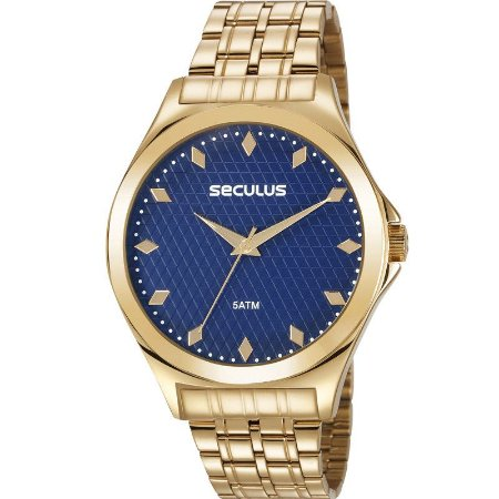 Relógio Seculus Feminino Analógico Dourado 23632LPSVDS1