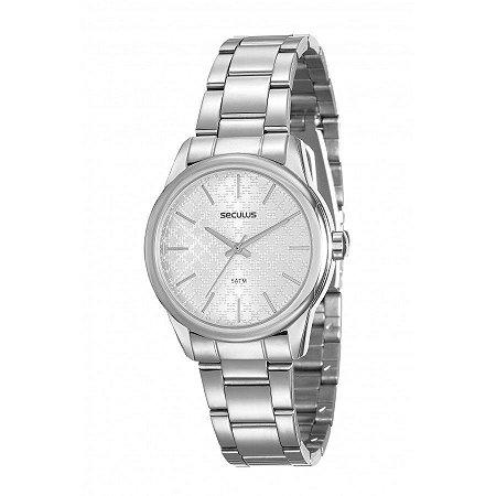 Relógio Seculus Feminino Analógico Prata 20564L0SKNS2