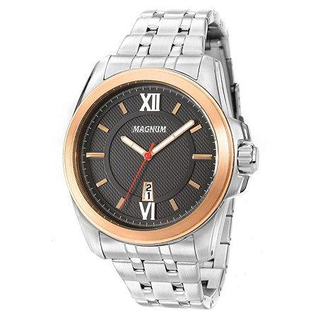 Relógio Magnum Masculino Analógico Prateado MA34254P