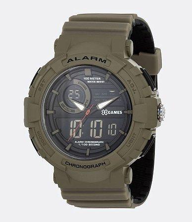 Relógio Masculino X-Games Analógico/Digital Verde XMPPA265PXIP