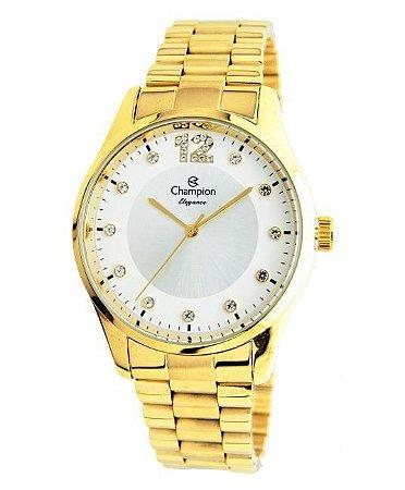 Relógio Champion Feminino Elegance Dourado CN25743H
