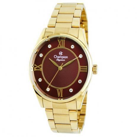 Relógio Champion Analógico Feminino Dourado CN25038I