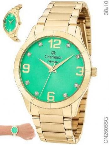 Relógio Champion Analógico Feminino Dourado CN26055G
