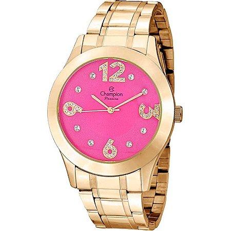 Relógio Champion Feminino Analógico Dourado CN29178L