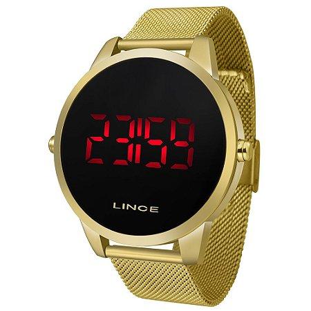 Relógio Lince Masculino Dourado Digital MDG4586L