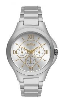 Relógio Condor Feminino Multifunção Prateado CO6P29IT3K