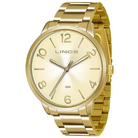 Relógio Lince Feminino Analógico Dourado LRGJ045LC2KX