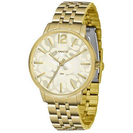 Relógio Lince Feminino Analógico Dourado LRG622L