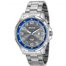 Relógio Seculus Masculino Analógico Prateado 20578G0SVNA1