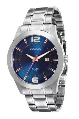 Relógio Seculus Masculino Analógico Prateado 20419G0SVNA1