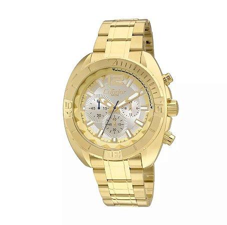 Relógio Condor Dourado Masculino Cronógrafo Covd54an/4k