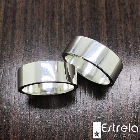 Par de alianças em prata 950 Ref 1120015