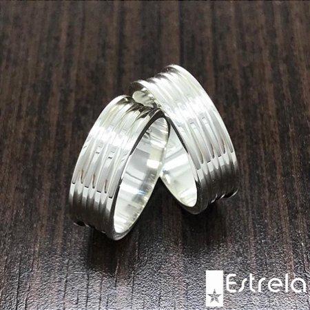 Par de alianças em prata 950 ref 1120010