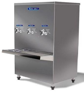 Bebedouro Industrial Max Gel inox 200l 3 torneiras