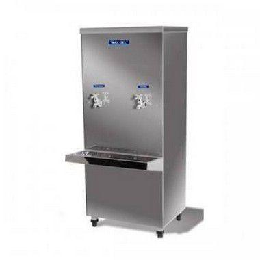 Bebedouro Industrial Max Gel Inox 50L 2 torneiras