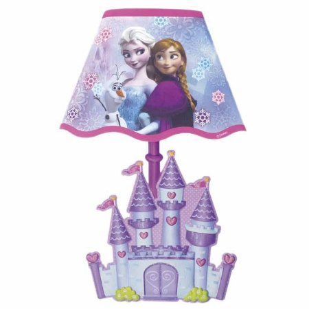 Adesivo de Parede Abajur Disney Frozen Com Lampadas LED